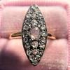 Victorian Rose Cut Diamond Navette Ring 24