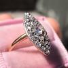Victorian Rose Cut Diamond Navette Ring 15