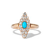 Victorian Turquoise and Diamond Navette Ring 0