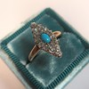 Victorian Turquoise and Diamond Navette Ring 14