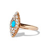 Victorian Turquoise and Diamond Navette Ring 1
