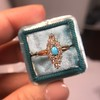 Victorian Turquoise and Diamond Navette Ring 15