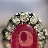Victorian No-heat Ruby and Diamond Cluster Ring, AGL 25