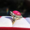 Victorian No-heat Ruby and Diamond Cluster Ring, AGL 18