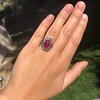 Victorian No-heat Ruby and Diamond Cluster Ring, AGL 29