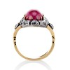Victorian No-heat Ruby and Diamond Cluster Ring, AGL 3