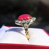 Victorian No-heat Ruby and Diamond Cluster Ring, AGL 19