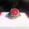 Victorian No-heat Ruby and Diamond Cluster Ring, AGL 17