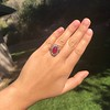 Victorian No-heat Ruby and Diamond Cluster Ring, AGL 8