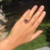 Victorian No-heat Ruby and Diamond Cluster Ring, AGL 30