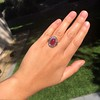 Victorian No-heat Ruby and Diamond Cluster Ring, AGL 11