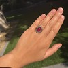 Victorian No-heat Ruby and Diamond Cluster Ring, AGL 13