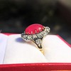 Victorian No-heat Ruby and Diamond Cluster Ring, AGL 14