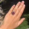 Victorian No-heat Ruby and Diamond Cluster Ring, AGL 23