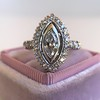 .93ctw Vintage Marquise Cut Diamond Navette Ring 4