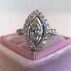 .93ctw Vintage Marquise Cut Diamond Navette Ring 4