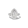 .93ctw Vintage Marquise Cut Diamond Navette Ring 0