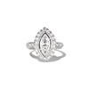 .93ctw Vintage Marquise Cut Diamond Navette Ring 0