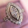 .93ctw Vintage Marquise Cut Diamond Navette Ring 9