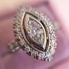 .93ctw Vintage Marquise Cut Diamond Navette Ring 9