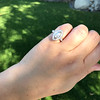 .93ctw Vintage Marquise Cut Diamond Navette Ring 27
