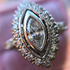 .93ctw Vintage Marquise Cut Diamond Navette Ring 29