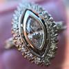 .93ctw Vintage Marquise Cut Diamond Navette Ring 29