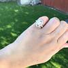 .93ctw Vintage Marquise Cut Diamond Navette Ring 25