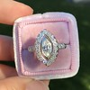 .93ctw Vintage Marquise Cut Diamond Navette Ring 13