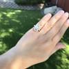 .93ctw Vintage Marquise Cut Diamond Navette Ring 21