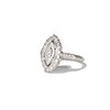 .93ctw Vintage Marquise Cut Diamond Navette Ring 1