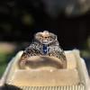 Art Deco Sapphire and Diamond Mounting 7