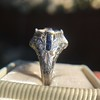 Art Deco Sapphire and Diamond Mounting 14