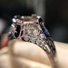 Art Deco Sapphire and Diamond Mounting 11