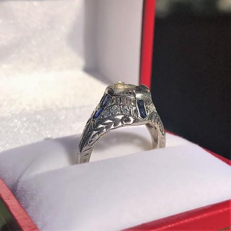Art Deco Sapphire and Diamond Mounting