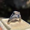 Art Deco Sapphire and Diamond Mounting 8
