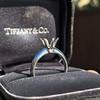 Vintage 6-prong Tiffany Mounting, Platinum 0