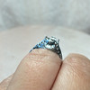Vintage Filigree Die-struck Solitaire 7