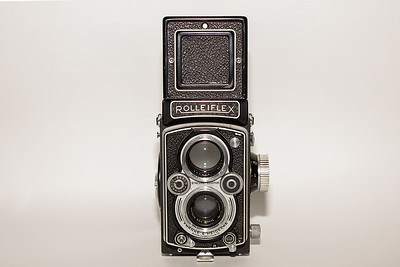 This wonderful 1950's Rolleiflex TLR was my dad's camera.