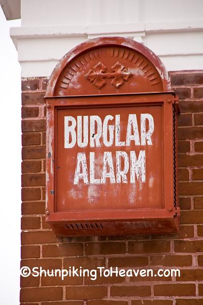 Burglar Alarm on 1910 Bank Building, Rock County, Wisconsin