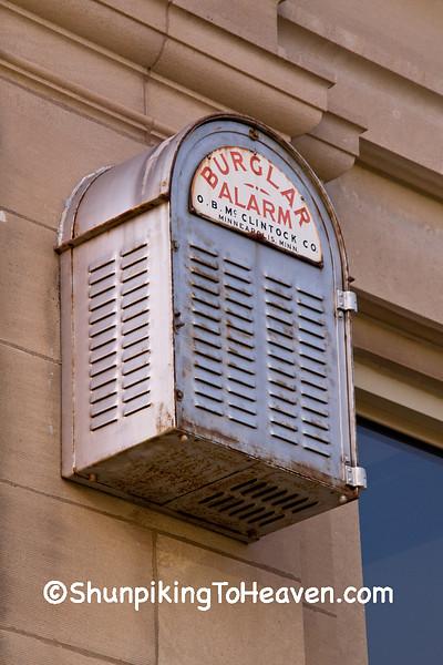 Burglar Alarm on Former State Bank of Fennimore, Fennimore, Wisconsin