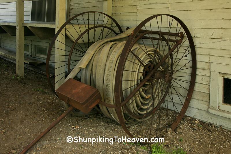 Vintage Fire Hose Cart, Kalamazoo County, Michigan