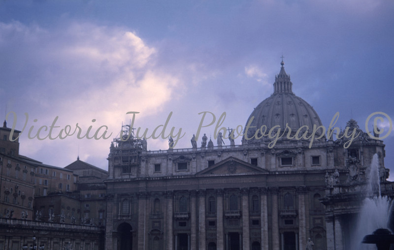 St. Peter's Cathedral - Rome, Italy - 1949<br /> <br /> Taken by: Evelyn M. Stillwagon