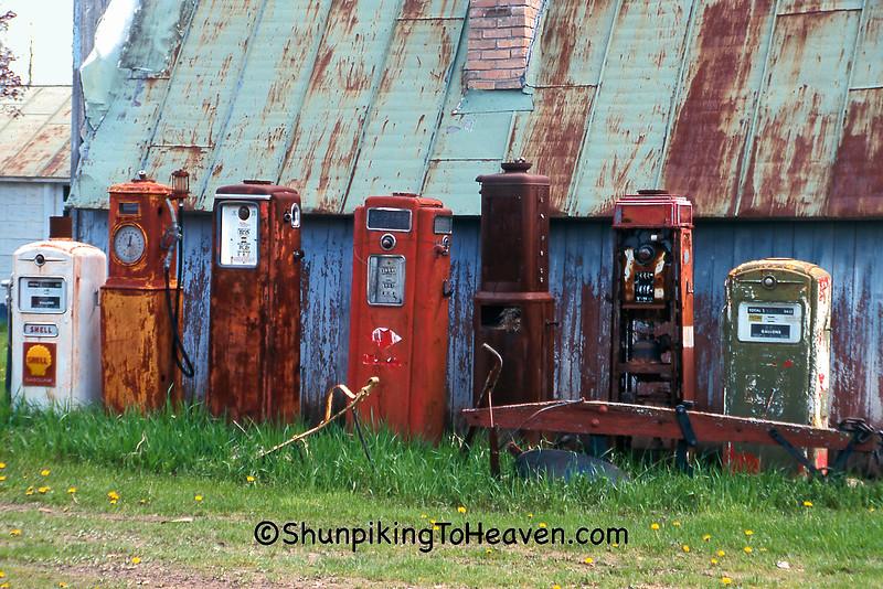 Rusty Old Gas Pumps, Waupaca County, Wisconsin