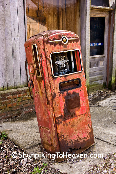 Rusty Gas Pump at Country Store, McLean County, Illinois