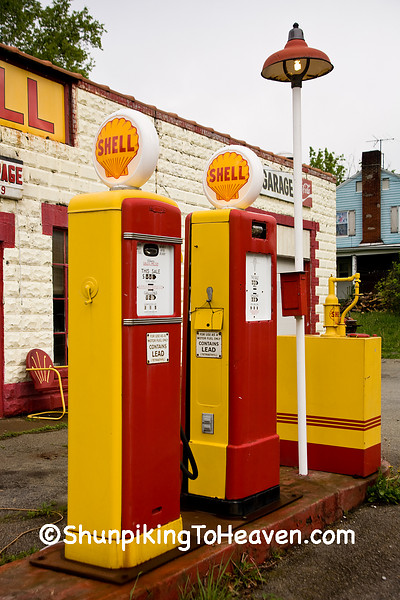Shell Gas Pumps, Brown County, Ohio
