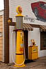 Vintage Gas Pump, Replica Shell Service Station, Route 66, Dwight, Illinois