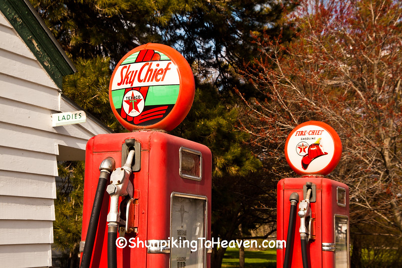 Vintage Sky Chief Gas Pumps, Ambler-Becker Texaco Station, Old Route 66, Dwight, Illinois