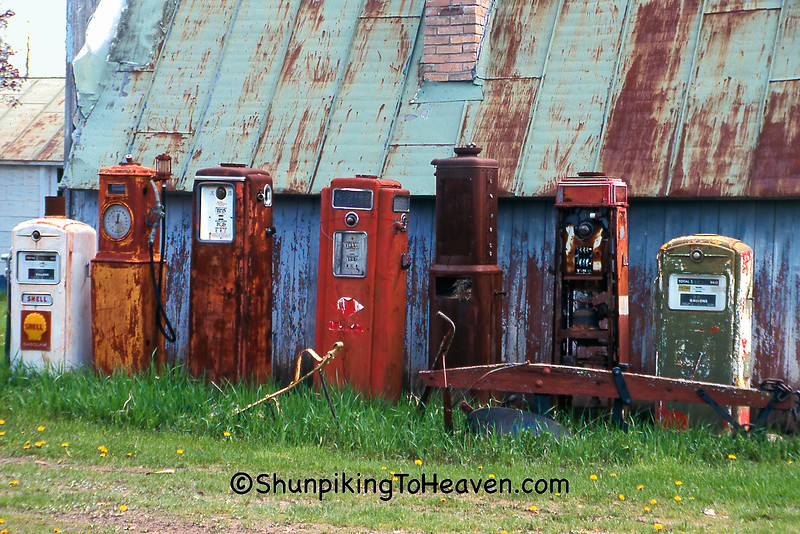 Rusty Old Gas Pumps, Waupaca County, Wisconsin