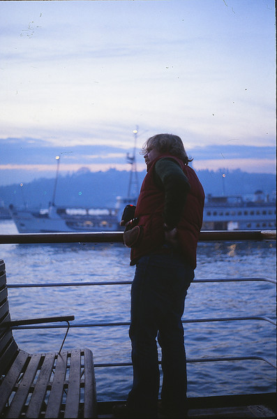 Kevin on the Istanbul - Canakkale ferry, January 2, 1980